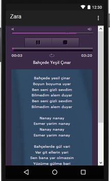 Zara şarkı sözleri screenshot 2