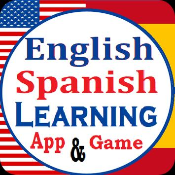 English Spanish Learning app and Vocabulary Game poster