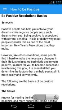 How to be Positive poster