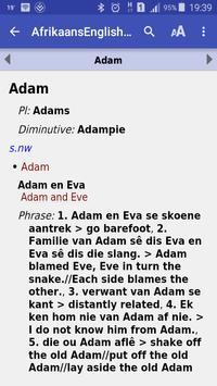 Afrikaans English Dictionary apk screenshot