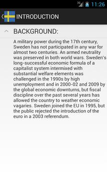 Sweden Facts poster