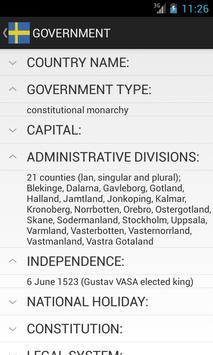 Sweden Facts screenshot 1