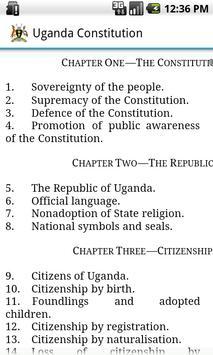 Uganda Constitution poster
