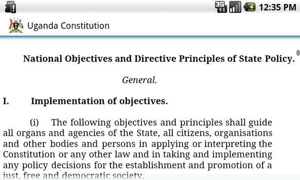 Uganda Constitution apk screenshot