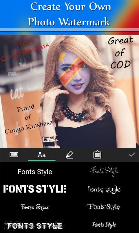 Congo Kinshasa Flag Face Paint poster