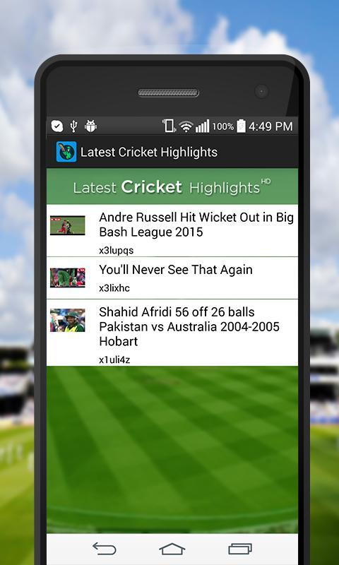 Latest Cricket Highlights For Android Apk Download