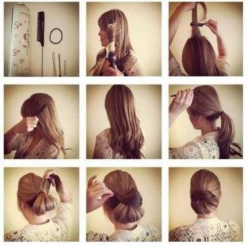 steps by step girl hairstyle apk screenshot
