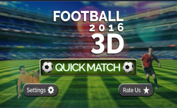 Football 2016 3D poster
