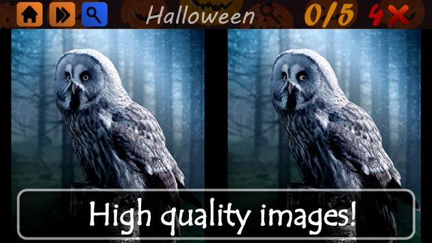 Spot The Differences Halloween poster