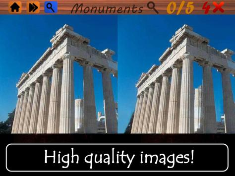 Spot the Differences Monuments apk screenshot