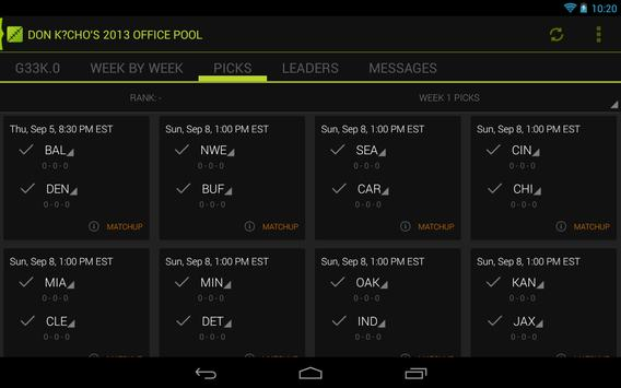 PickedOff Office Pool Manager apk screenshot