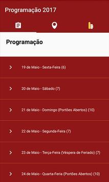 Programação 2017 apk screenshot