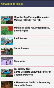 All Guide For Roblox poster