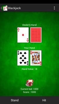 Blackjack 21 card game poster