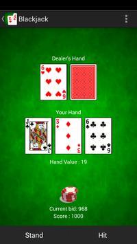 Blackjack 21 card game apk screenshot
