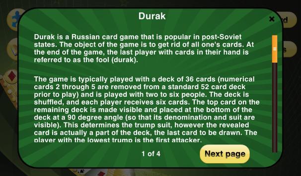 Durak Cards Game apk screenshot