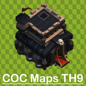 New COC 2018 Town Hall 9 Maps icon