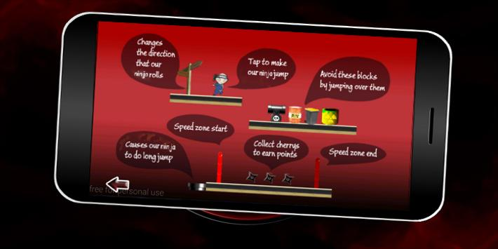 Ninja guy run apk screenshot