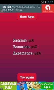 Kisses Valentine Test apk screenshot