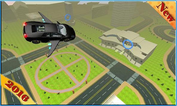 Futuristic Super Flying Car poster