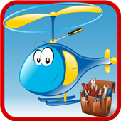 Crazy Helicopter Builder Game icon