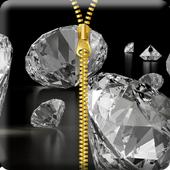 Diamond Zipper Screen Lock icon