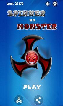 Fidget Spinner Hero Vs Incredible Spider Monster poster