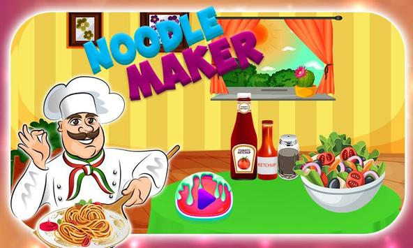 Hot Noodle Little Chef Cooking poster