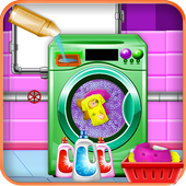 Home Washing Laundry Game: Room Cleaning Adventure icon