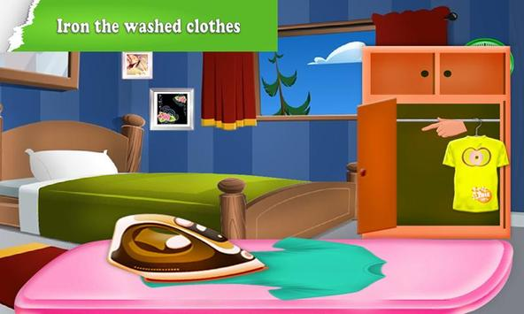 Home Washing Laundry Game: Room Cleaning Adventure screenshot 1