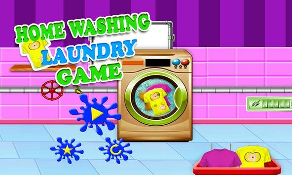 Home Washing Laundry Game: Room Cleaning Adventure screenshot 3