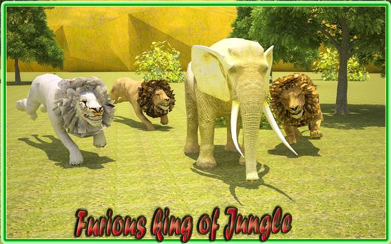 Rage of Jungle King Lion poster