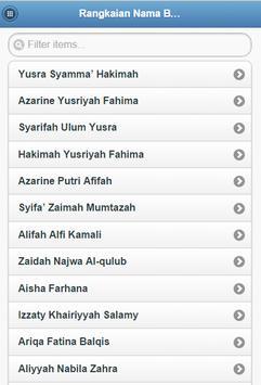 Nama bayi perempuan islam screenshot 1