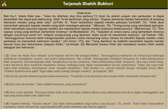 Shahih Bukhari Terjemah apk screenshot