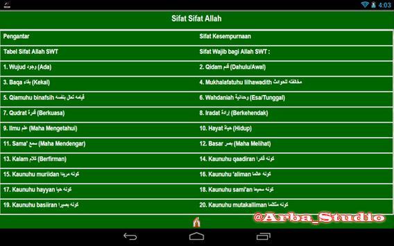 Sifat Allah apk screenshot