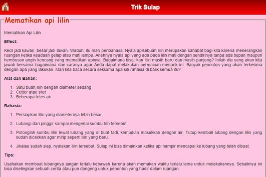 Trik Sulap screenshot 1