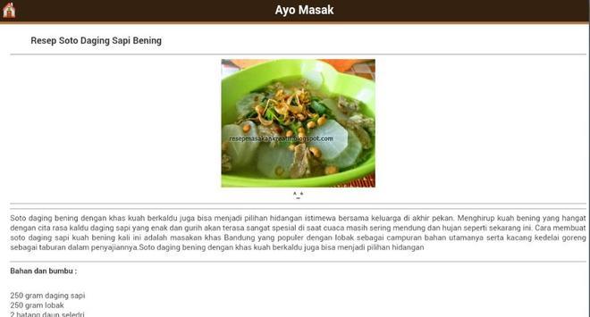 Resep Masakan Sehat apk screenshot