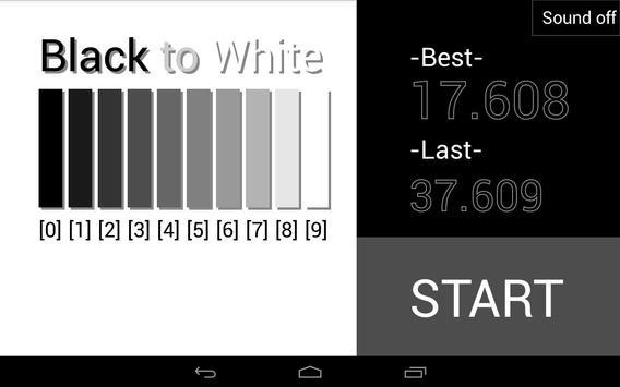 Black to White poster
