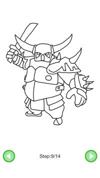 How To Draw :Clash Of Clans Characters screenshot 5