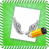 How To Draw :Angel Wings icon