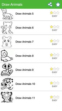 How To Draw :Animals apk screenshot