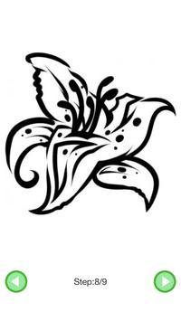 How To Draw :Flower Tattoos screenshot 5
