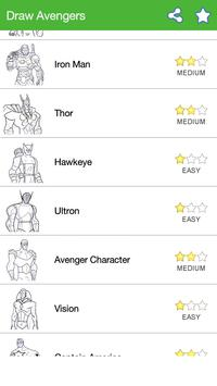 How To Draw :Avengers Characters screenshot 1