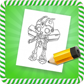 How To Draw :Robots icon
