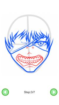 How To Draw :Tokyo Ghoul Characters screenshot 4