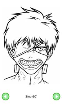 How To Draw :Tokyo Ghoul Characters screenshot 5