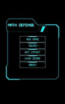 Math Defense Game poster