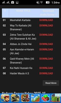 Ahl-e-aza.com Audio Download screenshot 2
