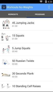 Workouts No-Weights screenshot 5