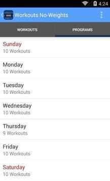 Workouts No-Weights screenshot 1